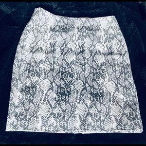 Snake Print Mini Skirt